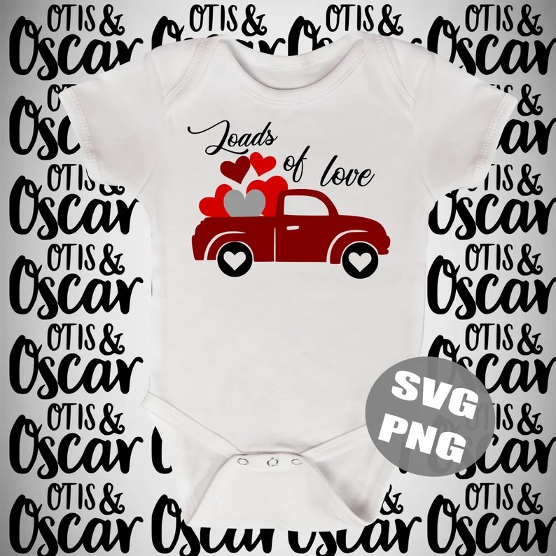 Download Loads of Love Valentine's Day Truck SVG PNG Decor   Etsy