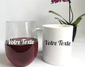 Cup, wine cup or custom vinyl decal for cup, wine cup, Father's Day gift, cup customization, sticker
