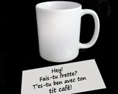 Vinyl decal alone or with coffee cup, sticker, decoration, vinyl decal for smooth surface