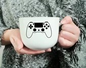 Decal vinyl for coffee mug with video game controller, custom mug, sticker or embellishment