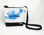 Personalised shoulder bag with your printed handbag image or logo.