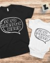 Matching Mom Or Dad Baby Blank Black T Shirt And White Etsy