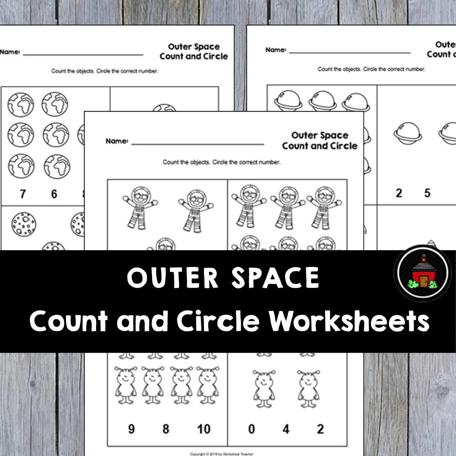 4 Printable Outer Space Count And Circle Numbers 0 10