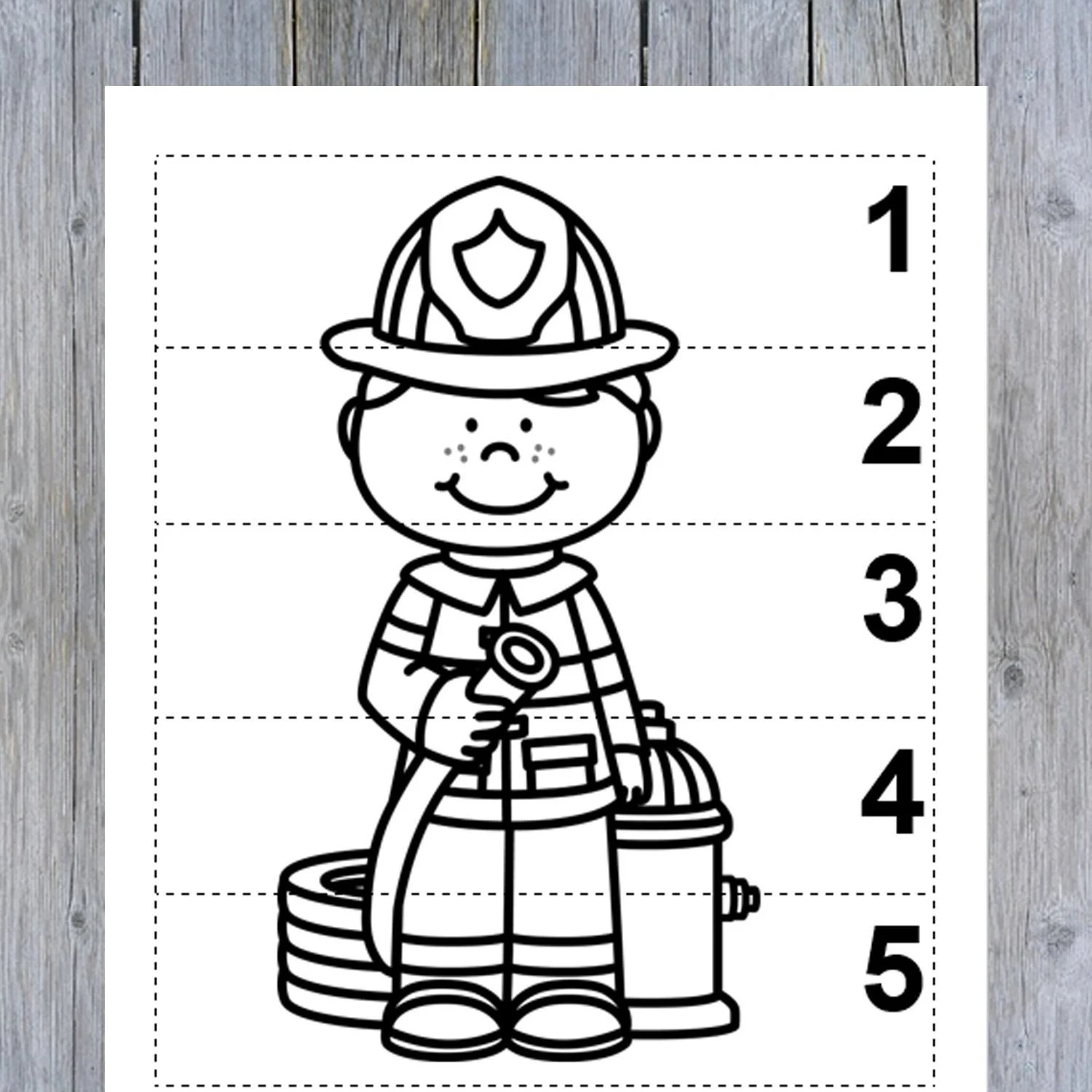 10 Community Helpers Number Sequence 1 5 Preschool Math B