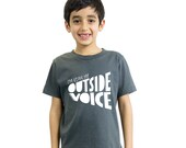 I'm using my OUTSIDE VOICE kids 100% organic cotton tee