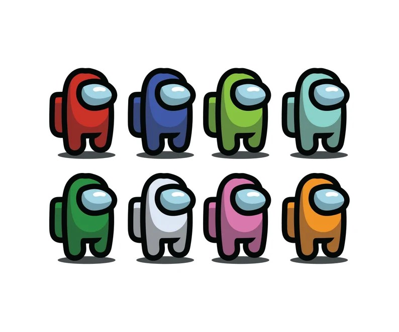 Download Among Us 8 Character SVG Cut Files PNG EPS dxf Cutting ...