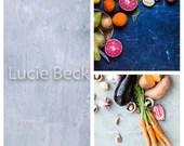 3 photography backgrounds base, grey backdrops, ML174 concrete grey backdrops and white foodsurface