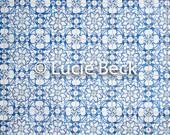 Portugese blue backdrop, ML836, vinyl backdrop, colourful backdrop, Portuguese tiles backdrop, backdrop food photography, myluciebackdrops