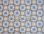Portugese symmetric tiles backdrop, ML842, vinyl backdrop, colourful backdrop, Portugese tiles, backdrop foodphotography, myluciebackdrops