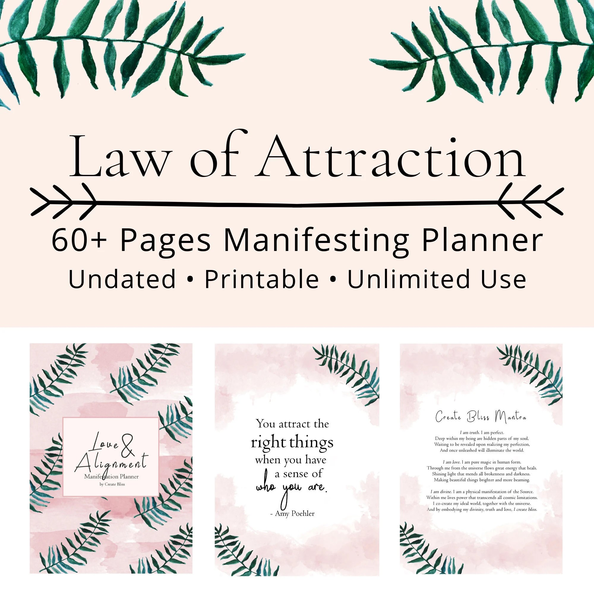 Law Of Attraction Planner Printable Planner