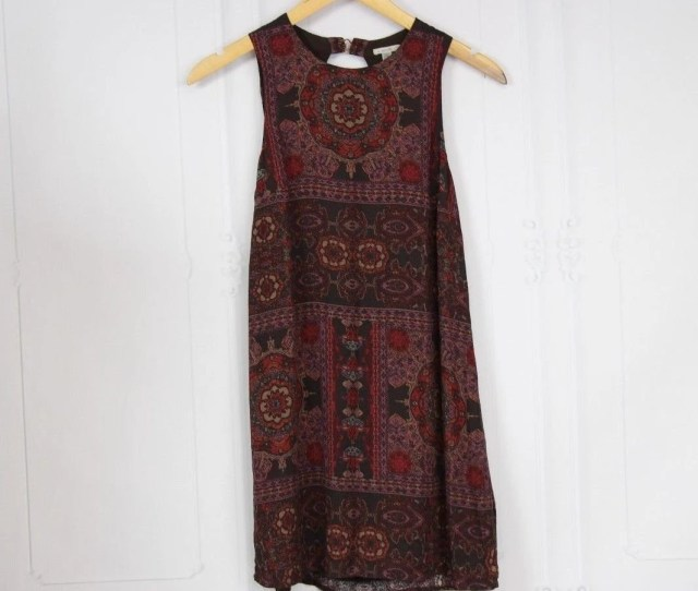 Multi Color Keyhole Boho Women Tunic Readymade Sleeveless Dress