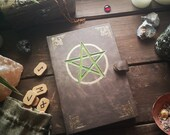 Witches Bullet Journal, Diary, A5 Notebook, Calendar, Pentagram, Magic Book, Book of Shadows, Fantasy, Witchcraft, Grimoire, Crystal