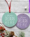 Berlin Aluminum Christmas Ornament Mockup Template Add Your Etsy