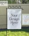 Garden Flag Mockup White Yard Flag Mock Up Mockup Digital Etsy