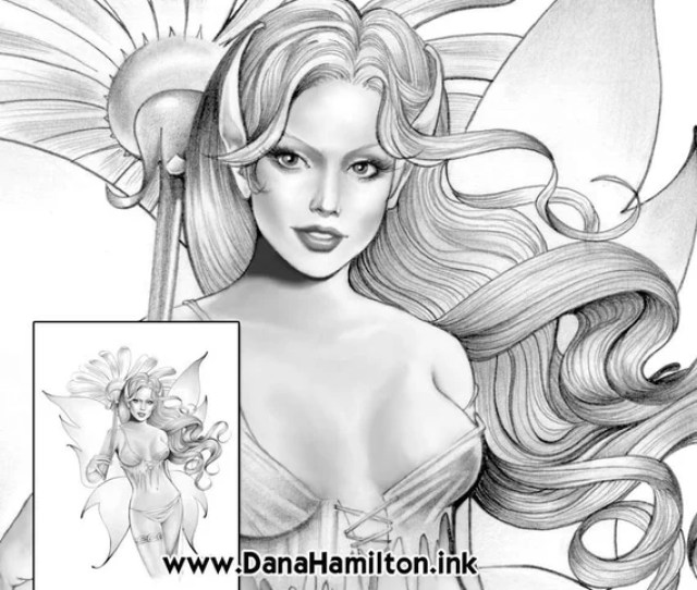 Daisy Fairy Grayscale Fairy Coloring Pages Pdf Instant Etsy