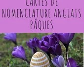 Nomenclature cards-Easter in French
