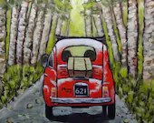 """The Day Trip - original acrylic painting on 12x12"""" stretched canvas. Ready to hang!"""