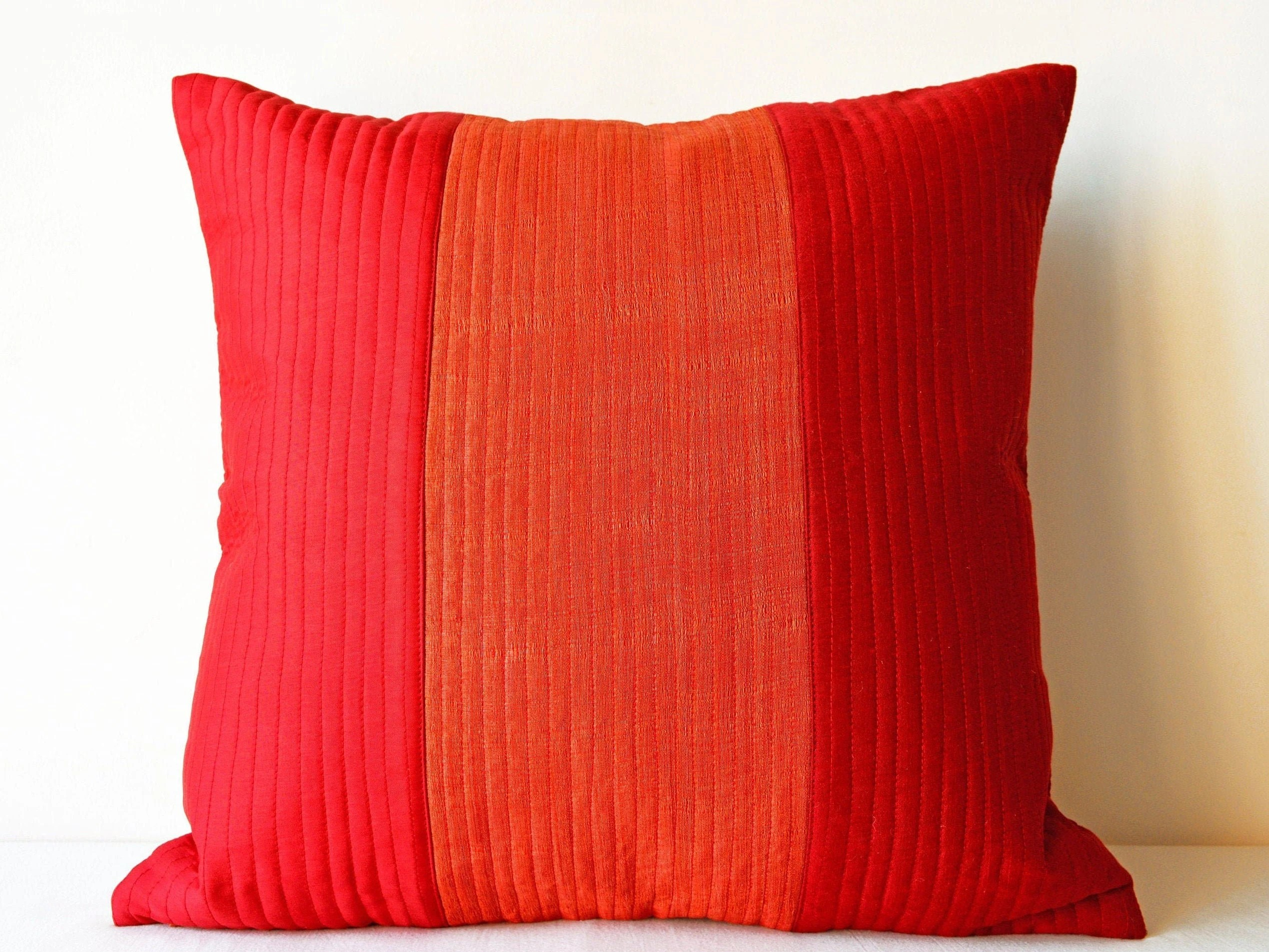 red pillow covers 20x20 pillow cover 18x18 throw pillow covers red orange cushion 16x16 decorative pillow cover rust orange couch pillows