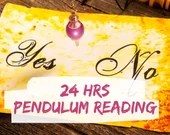 Yes/No Reading with Pendulum & Angel Card: 1 Question - 24hrs | Angel Card Reading | Tarot Reading | Psychic Reading | Pendulum Reading
