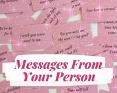 Messages from your Person/Soulmate/TwinFlame | Written Love Reading | Twinflame Reading | Oracle Card Reading | 2 Day Delivery