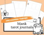 HALLOWEEN Themed Blank Tarot Journal Sheets   PDF Printable for Instant Download   1-4 Cards Spreads   A4 & US Letter Sized