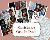 Christmas Spirit Oracle Deck: 25 Printable Oracle Cards For The Holiday Season | PDF Printable | Digital Download | A4 & US Letter Version