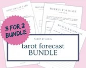 Tarot Forecast Journal BUNDLE - 3 for the price of 2   Daily/Weekly/Monthly Tarot Spread Journals   PDF Printable   A4 & US Letter Version