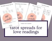 Love Spread Templates for Tarot & Oracle Card Readings   Tarot Reading Templates for Beginners   A4 + US Letter Sized PDF Printable