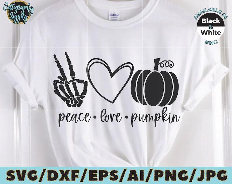 Download Peace Love Pumpkin SVG Halloween SVG Cut File vinyl decal ...