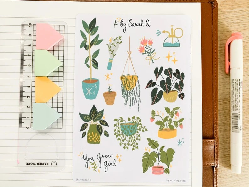 Plant Stickers Bujo Stickers Planner Stickers Aesthetic image 0