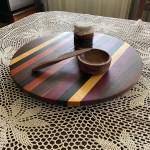 Racks Holders Wooden Lazy Susan Kitchen Turntable Wood Serving Tray Decorative Platter Round Candiidonline Com