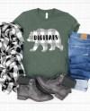 Bella Canvas 3001 Heather Military Green Unisex Jersey Tshirt Etsy