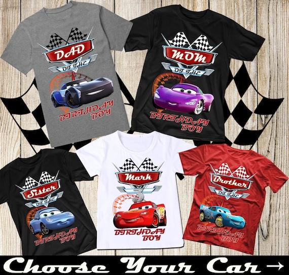 Disney Cars Birthday Shirt Disney Cars Family Birthday Shirts Etsy