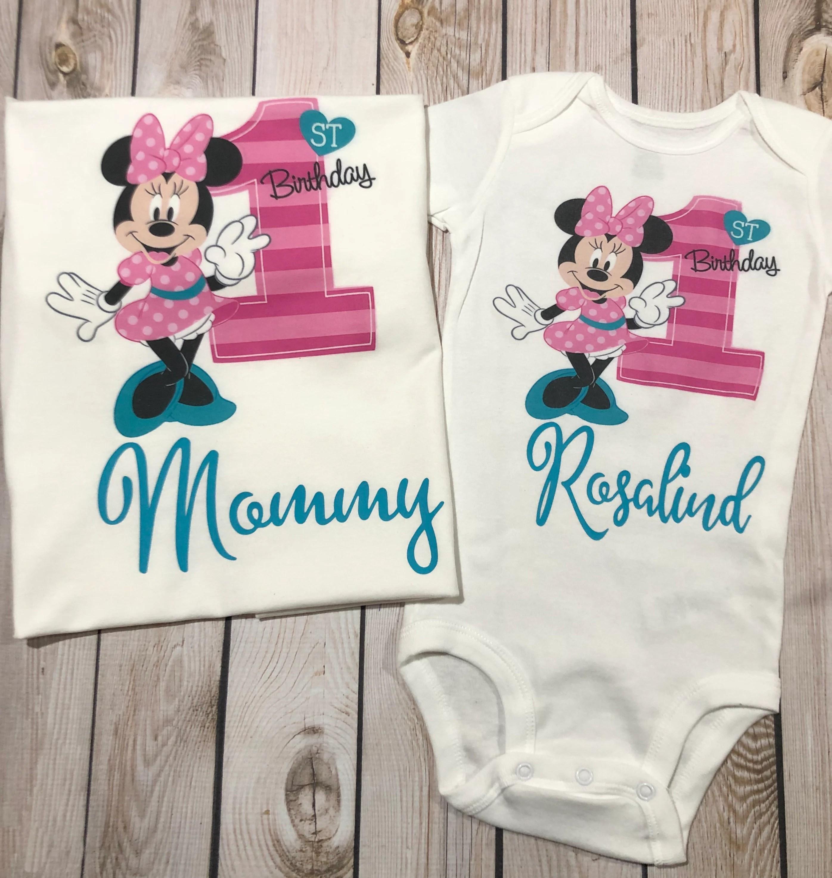 Minnie Mouse Family 1st Birthday Shirts Family Birthday Etsy