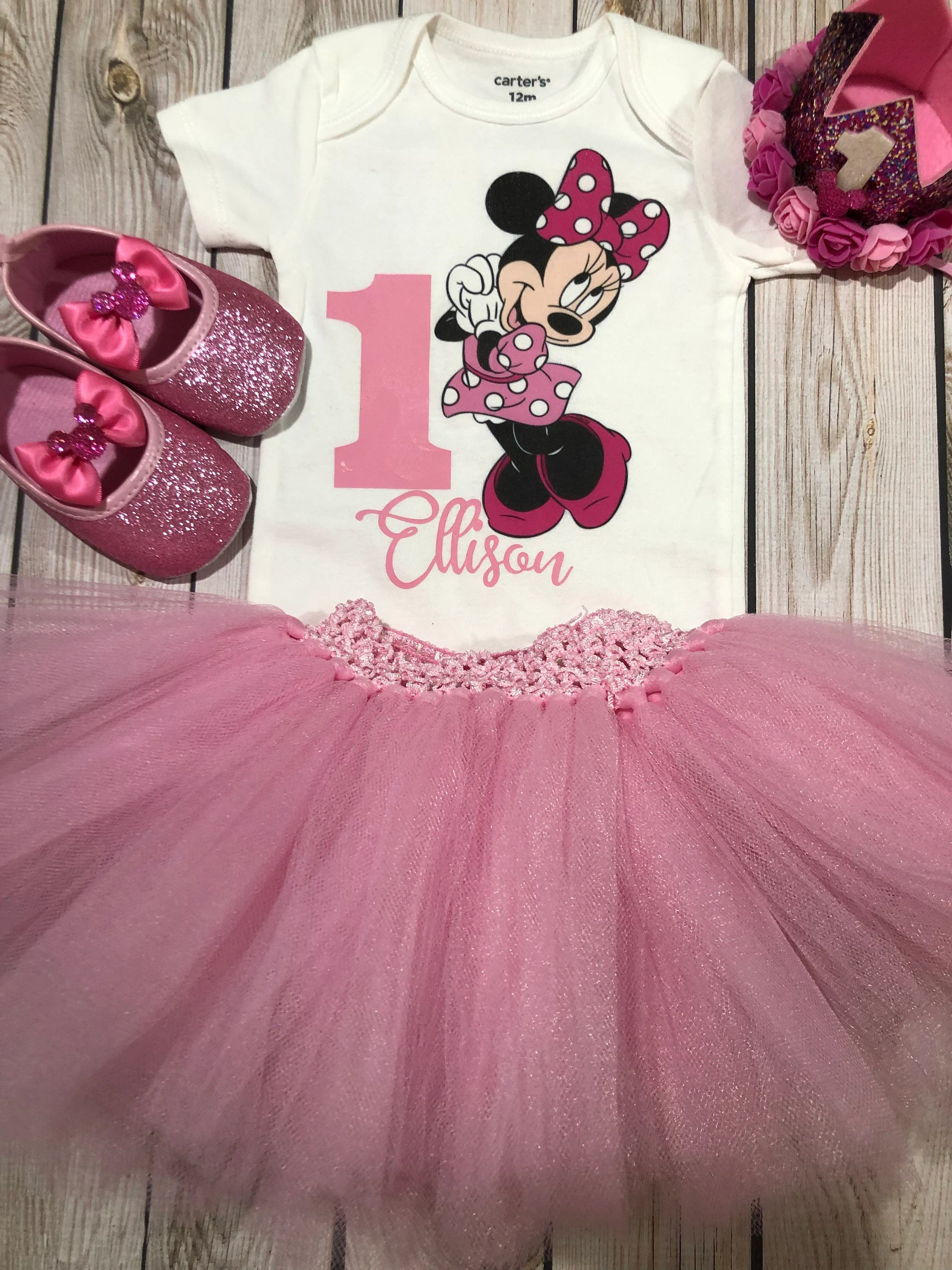 Minnie Mouse 1st Birthday Outfit Minnie Mouse Party Minnie Etsy