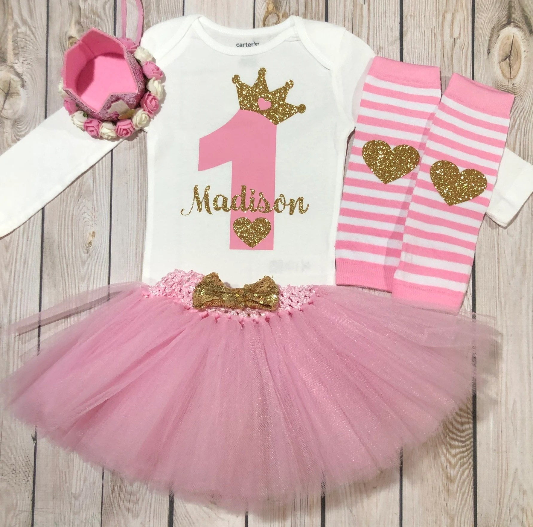 First Birthday Princess Outfit 1st Birthday Outfit Girl Etsy