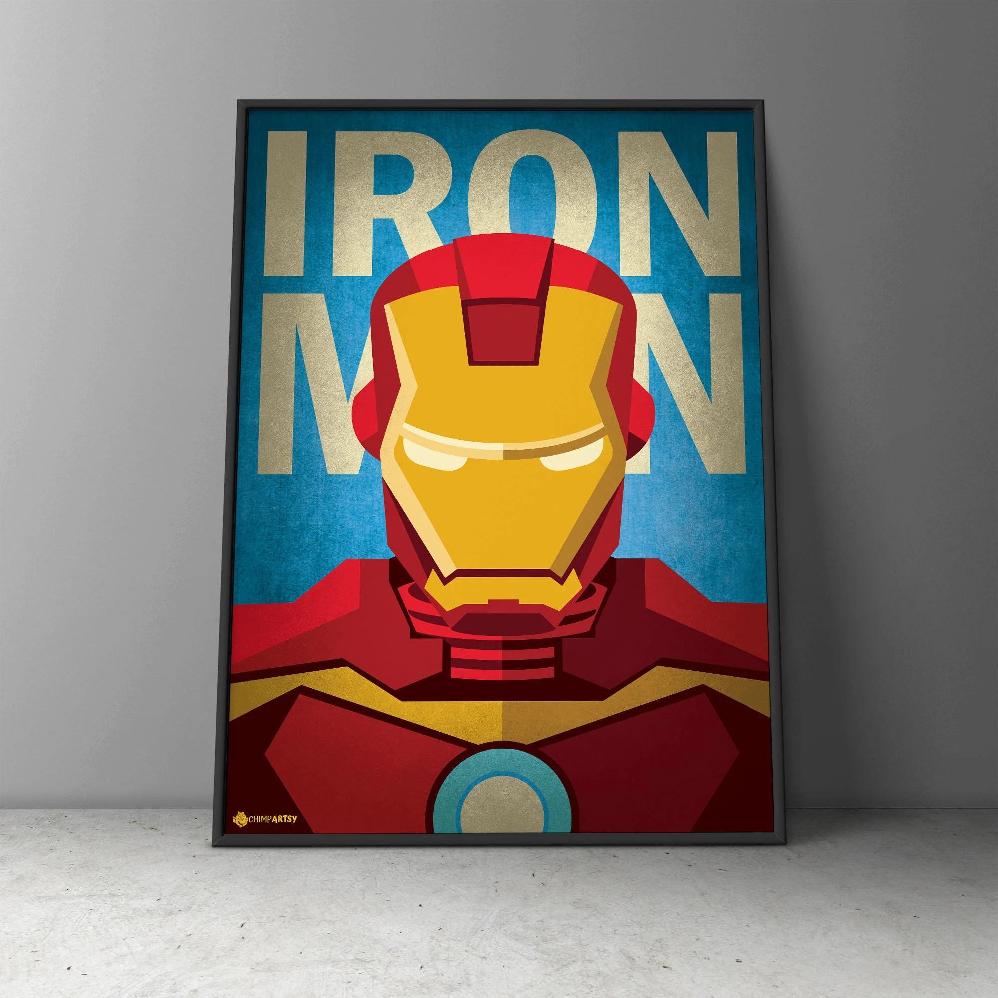 iron man minimalist poster iron man