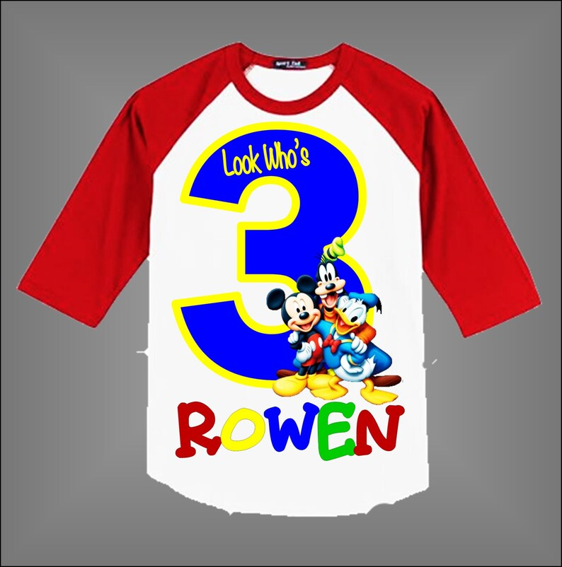 Mickey Mouse Clubhouse Birthday Shirt For Boys Or Girls Clothing Baby Boys Clothing Uthamjobs Com