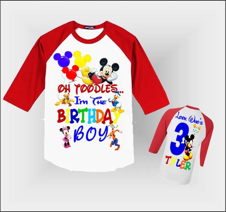 Mickey Mouse Clubhouse Boy S Birthday Shirt Mickey Mouse Clubhouse Birthday Shirt Boys Clothing Clothing Springart Fr