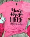 Next Level 6610 Ladies Tshirt T Shirt Tee Mockup Hot Pink Etsy