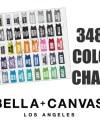 Bella 3480 Color Chart Bella 3480 Unisex Tank Top Color Etsy