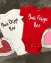 Valentine S Day Rabbit Skins 4400 Baby Bodysuit Mockup Etsy