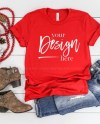 Bella Canvas 3001 Mockup Red T Shirt Mockup Holiday Mockup Etsy