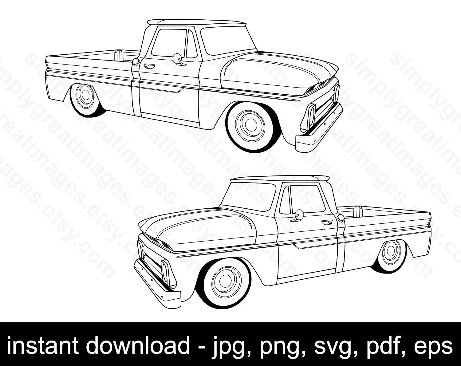 Chevrolet C 10 Svg Vector C10 Eps