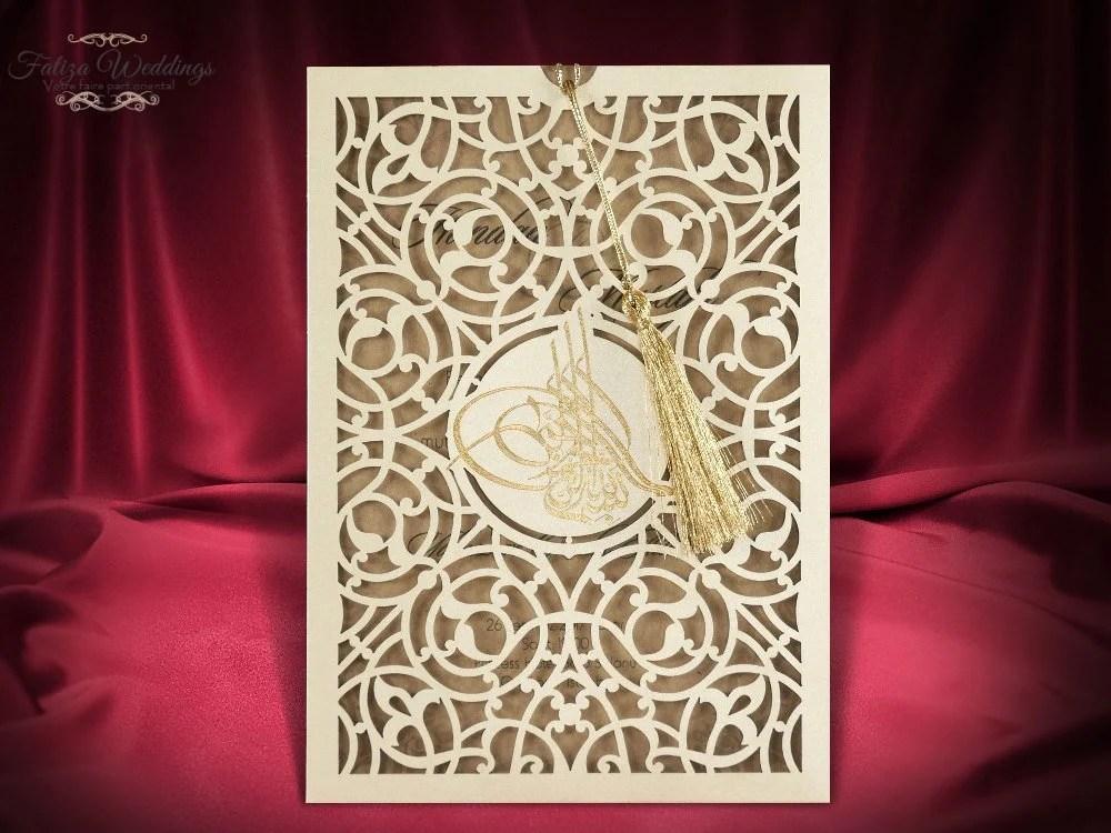 faire part mariage oriental invitation ottoman