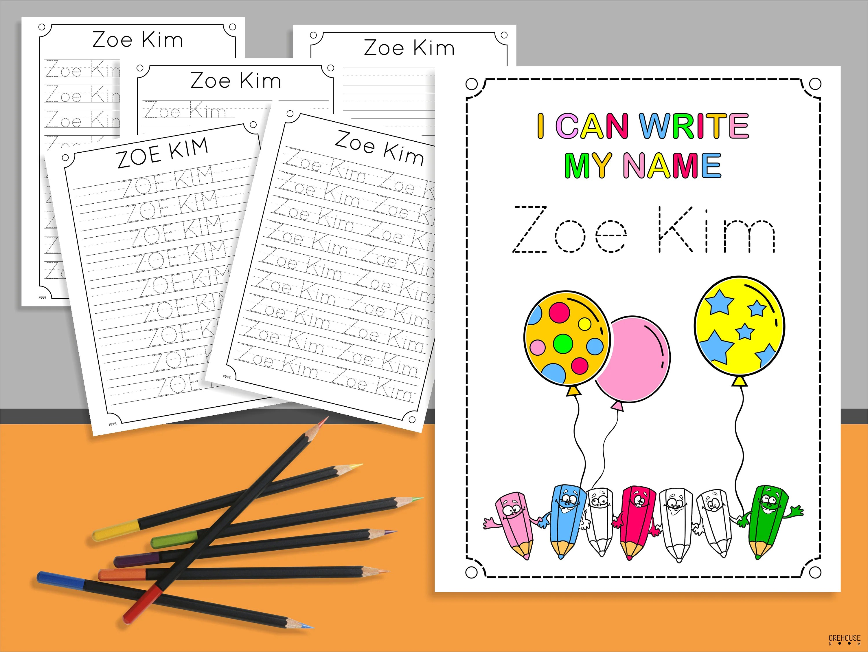 50 Custom Name Handwriting Practice Sheets Amp Alphabet