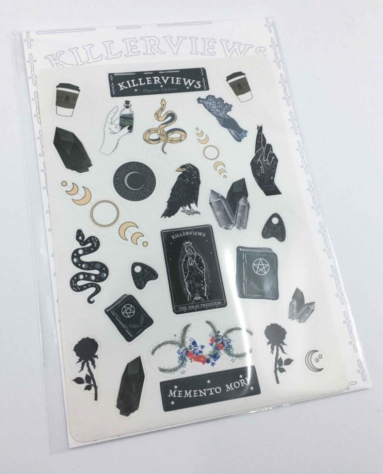 Celestial Witch Planner sticker sheet for bullet journal kit image 1