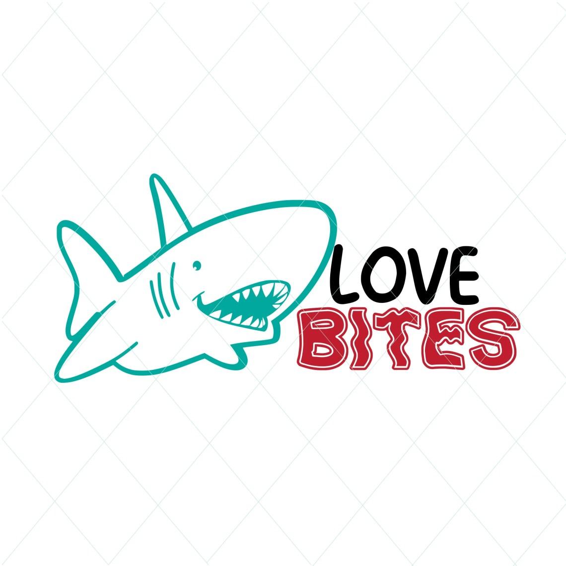 Download Love bites svg valentines cute shark valentine shark svg ...