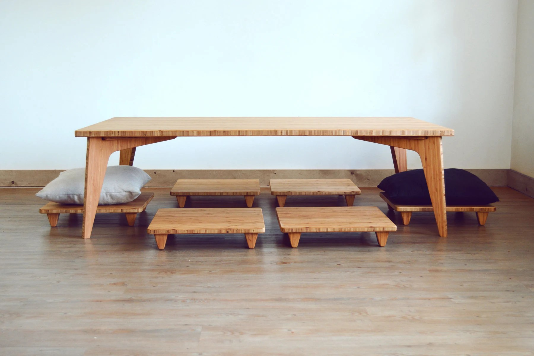 low coffee table set bamboo pillows lifts for floor cushion large coffee table dining table desk mid century japanese inspired