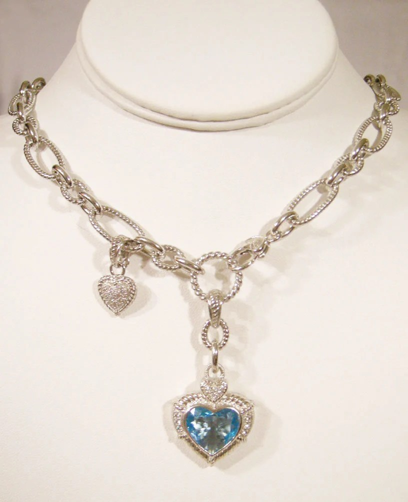 Judith Ripka 9 00 Carat Blue Topaz Heart Enhancer With Etsy
